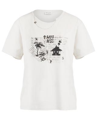 Used-Look-Boyfriend-T-Shirt mit Print Hangover SAINT LAURENT PARIS