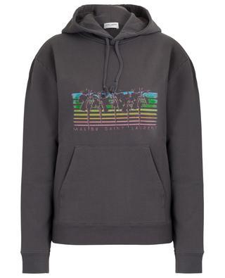 Sweat-shirt à capuche imprimé palmiers Malibu Saint Laurent SAINT LAURENT PARIS