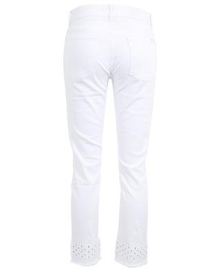 Roxanne openwork stitching slim fit jeans 7 FOR ALL MANKIND