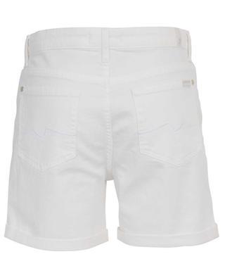 Boy Shorts Pure White denim shorts 7 FOR ALL MANKIND