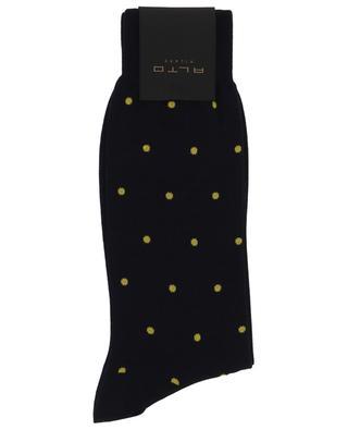 Polka dot cotton blend socks ALTO MILANO