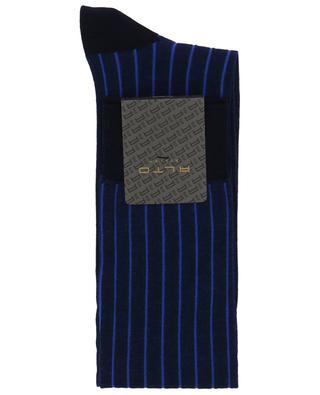 Striped cotton blend socks ALTO MILANO