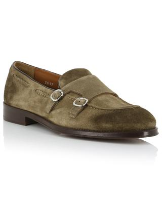 Bokeh monk strap suede loafers with braid details DOUCAL'S