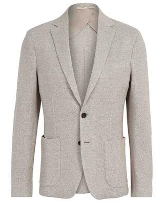 Textured linen and cotton blazer MAURIZIO BALDASSARI