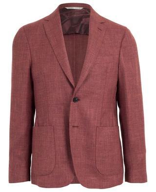 Virgin wool, silk and linen piqué blazer MAURIZIO BALDASSARI