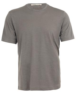 Active Wool Jersey short sleeved round neck T-shirt MAURIZIO BALDASSARI