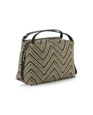 Elettra Small raffia handbag with chevron motifs GIANNI CHIARINI