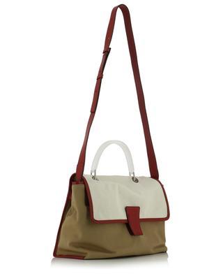 Canvas and leather crossbody bag GIANNI CHIARINI