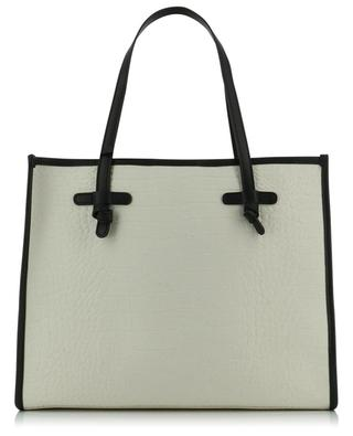 Marcella croc embossed canvas and leather tote bag GIANNI CHIARINI