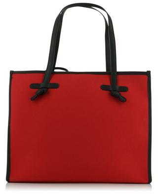 Canvas and leather tote bag GIANNI CHIARINI