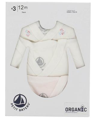 Set of three bodysuits in organic cotton PETIT BATEAU