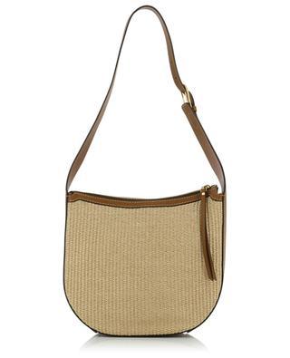 Petra leather and raffia shoulder bag GIANNI CHIARINI