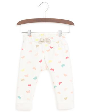 Quilted butterfly print jersey leggings PETIT BATEAU