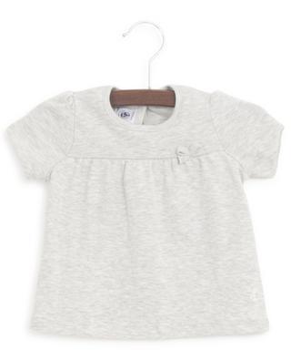 Ensemble T-shirt uni et T-shirt à pois en paillettes PETIT BATEAU
