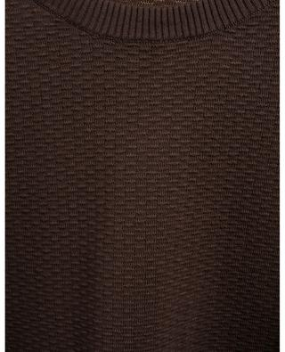 Textured cotton round neck jumper MAURIZIO BALDASSARI