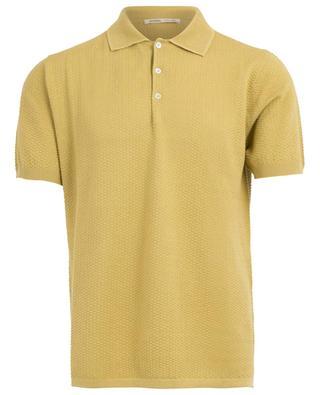 Textured cotton polo shirt MAURIZIO BALDASSARI
