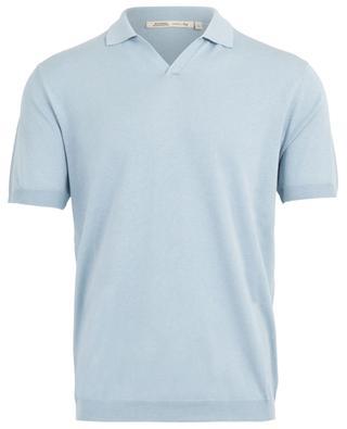 Silk and cotton short-sleeved polo shirt MAURIZIO BALDASSARI