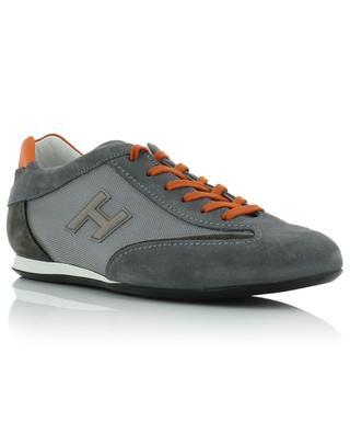 Materialmix-Sneakers mit Monogramm Olympia HOGAN
