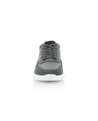 Interactive 3 leather, suede and technical fabric sneakers HOGAN
