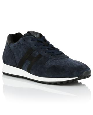 H429 suede and fabric sneakers HOGAN