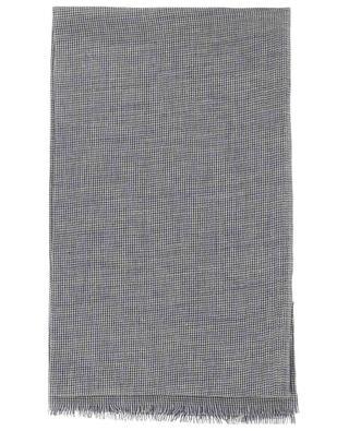 Georgina cotton, linen, silk and cashmere houndstooth print scarf 19 ANDREA'S 47