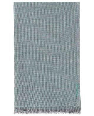 Schal aus Baumwolle, Leinen, Seide und Kaschmir mit Hahnentrittmuster Georgina 19 ANDREA'S 47