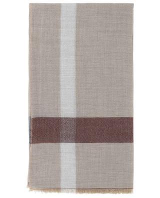 Giglio striped fine cashmere scarf 19 ANDREA'S 47