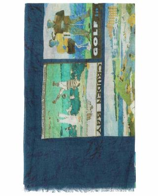 Golf P. print cashmere scarf 19 ANDREA'S 47