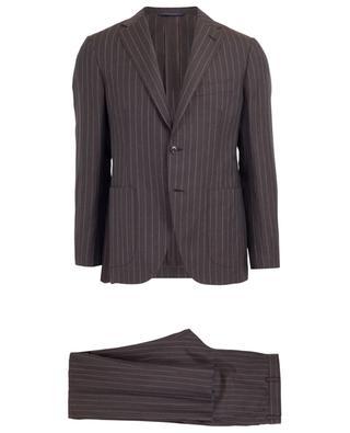 Gestreifter Anzug aus Wolle und Leinen BELVEST