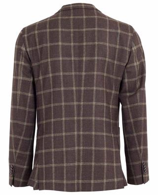 Wool and linen blend check blazer BOGLIOLI