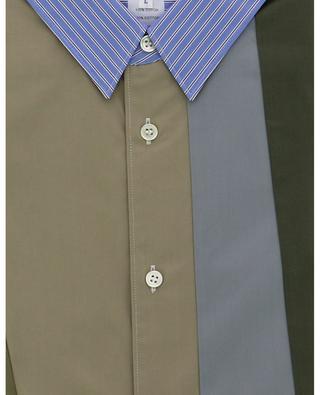 Short-sleeved patchwork effect shirt COMME DES GARCONS SHIRT