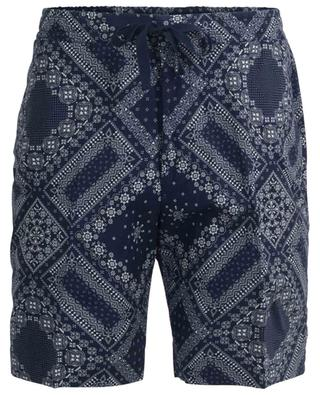 Phil bandana print cotton shorts OFFICINE GENERALE