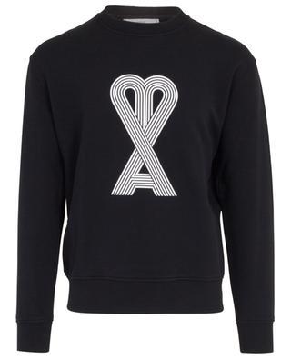 Sweatshirt mit Print Linear Ami de Coeur AMI
