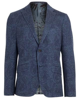 Blazer aus Leinen und Baumwolle mit Paisley-Print ETRO