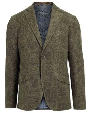 Paisley print linen and cotton blazer ETRO
