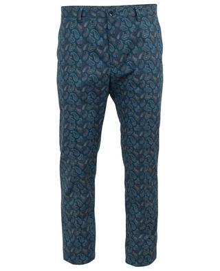 Paisley print cotton trousers ETRO