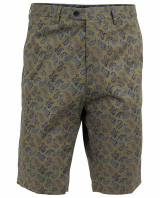 Paisley print cotton Bermuda shorts ETRO