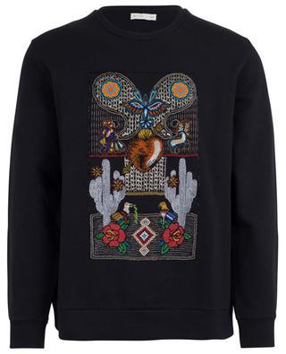 Mexico spirit bead embroidered sweatshirt ETRO
