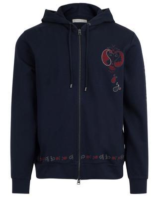 Paisley printed zippered sweat jacket with hood ETRO