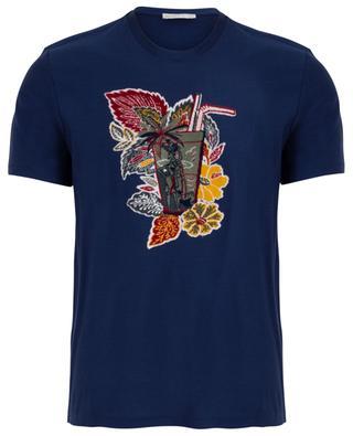 T-shirt brodé effet velours Cocktail ETRO