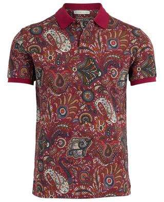 Regular Fit paisley print cotton polo shirt ETRO
