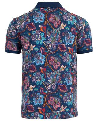 Floral piqué cotton polo shirt Regular Fit ETRO