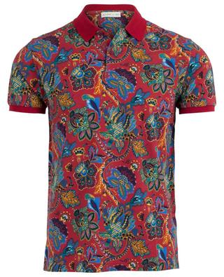 Floral piqué cotton polo shirt Regular Fit ETRO