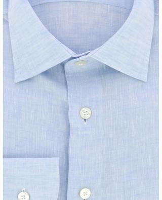 Logo embroidered monochorme linen shirt ETRO
