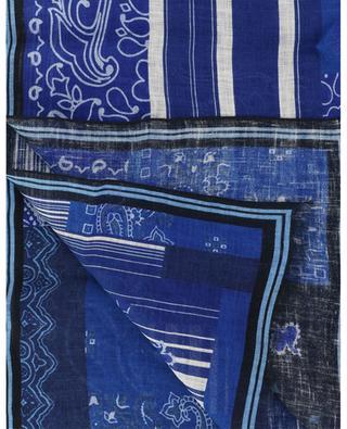 Écharpe en lin imprimée colour block paisley Shaal-Nur ETRO