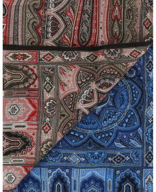 Écharpe en lin imprimé paisley bicolore Delhy ETRO