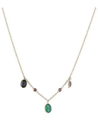 Cabochons gold necklace with precious stones GBYG