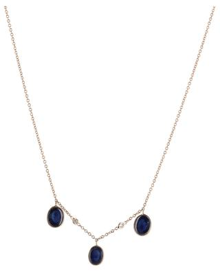 Halskette aus Roségold mit Saphir und Diamanten Cabochons GBYG