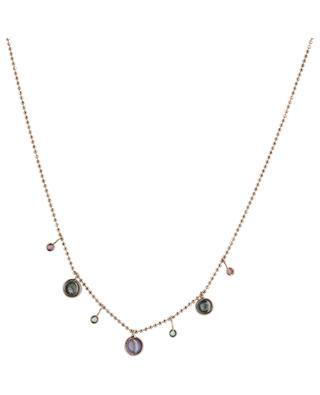 Halskette aus Roségold mit Edelsteinen Gouttes GBYG