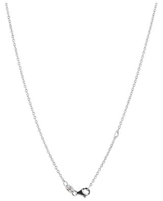 White gold necklace with sapphire drops and diamonds GBYG